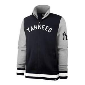 '47 New York Yankees Cooperstown Iconic Track Jacket - Navy- Full Zip Fleece