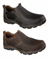 Skechers Mens Relaxed Fit Montz Devent Memory Foam Casual Leather Shoes