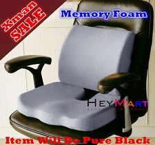Memory Foam Coccyx Orthoped Seat Cushion 1 + Back Cushion back Support Cushion 1