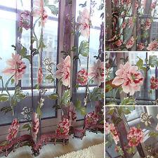 Romantisch Tüll Tür Fenster Blumenmuster Vorhang Dransein Panel Voile Volants