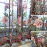 Romantic Tulle Door Window Floral Curtain Drape Panel Voile Valances Scarf Sheer