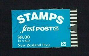 New Zealand: 1992 $8 Stamp Booklet, 80c Penguin stamp, SB61a