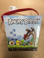 "Angry Birds Glossy Paper Bucket 7 1/2"" Tall Preowned Toy Collectible"