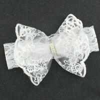 Baby Girls Fancy Dressy Socks Booties Headband Wrap 0-12 Months White Baptism