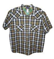 Patagonia Organic Cotton Men's Plaid Short Sleeve Button Up Shirt Size Large