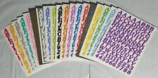 RARE - 2 SHEETS in One - EMAGINATION STOCK LETTERS Stickers - ABC & 123 ABC/123