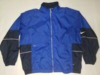 Vintage Nike - Full Zip Windbreaker / Track Jacket - Men's XXL - Blue & Black