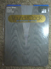 Round the Clock 1 Pair Pantyhose Size D  Silky Silhouettes Stately Grey Hose