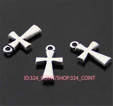 P391 15pc Tibetan Silver cross Charm Beads Pendant accessories wholesale