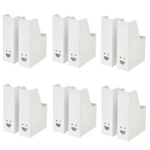12x Ikea Tjabba White Magazine Office File Organiser Holder Paper Storage Folder