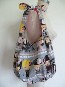 Harajuku Mini for Target Bag Music Notes Hobo Style Tie Handle Hot Pink Lining