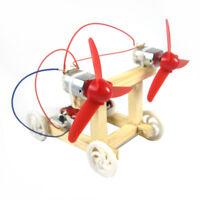 Doppelflügel Wind Power Racing Car Experimente DIY Wissenschaft Spielzeug