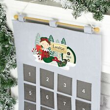 Personalised Luxury Felt Elf Christmas Hanging Advent Calendar - Xmas Advent