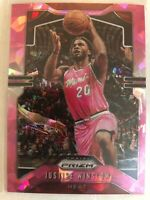 Justise Winslow 2019-20 Panini Prizm Pink Cracked Ice Prizms Insert SP