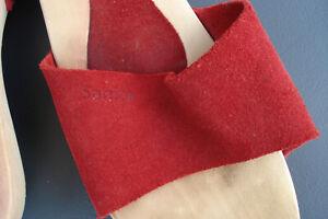 SANITA Holz-Sandaletten rot Wildleder 39