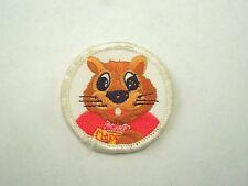 Vintage Herr's Potato Chip Company Mascot Chipper the Chipmunk Sew On Patch