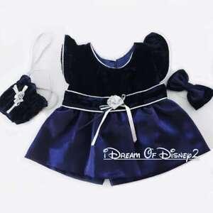 Build-A-Bear DARK BLUE SILVER HOLIDAY DRESS, 3-PIECE Vintage Teddy Clothes Set