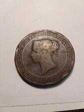 1870 CEYLON / SRI LANKA QUEEN VICTORIA FIVE CENTS  COLONIAL COIN