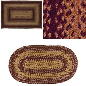 Vintage Star Jute Braided Rug & Tabletop Farmhouse Country Rustic Collection
