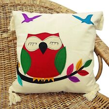 cotton cushion cover 16'' patchwork Owls bird pillow cotton case
