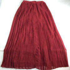 Sparkle Fade Womens Burgundy Pleated Skirt Size 4