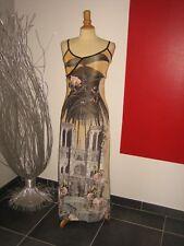 ROBE LONGUE MAXI DRESS MODELE PARIS TOUR EIFFEL SAVE THE QUEEN T M 36 38 UK 8 10