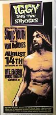 Mark Arminski IGGY & THE STOOGES SIGNED 2003 Poster SONIC YOUTH DTE Energy