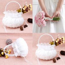 Streukörbchen Streukorb Korb Blumenkorb Hochzeit weiß Blumenkinder-Blumenmädchen