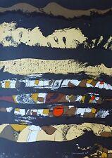 "JOSEP GUINOVART HAND SIGNED 1976 ""COMPOSITION""  LITHOGRAPH Spanish Artist Joseph"
