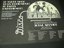1975 DISCO Promo Ad CHICAGO World 1st Disco One Stop