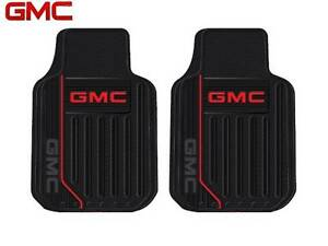 2 PC GMC Elite Front Rubber Floor Mats With Logo Fast Same Day Ship