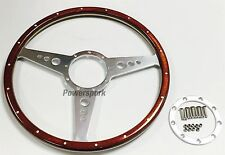 "15"" Classic Dark Wood Steering Wheel Compatible with Moto-Lita Boss"