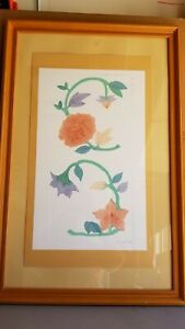 """Vtg Linda Whittemore Double Panel Etching """"Lalique I"""". S/N #81 Of 250 w/ COA"""