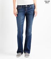 NWT Aeropostale Women Curvy Bootcut Core Dark Wash Jean