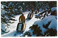 1970'S SNOWMOBILE POSTCARD VINTAGE SKI-DOO SNOWMOBILES WINTER SCENE UNUSED