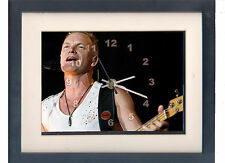Sting. Celebrity framed print and clock. The Police. Music memorabilia.