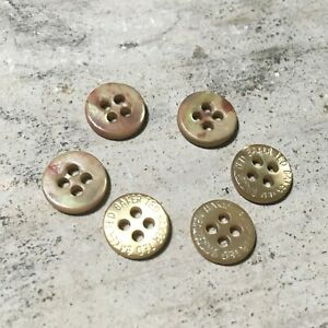 6 x Ted Baker Genuine Branded Replacement Gold Circular Buttons 0.9cm