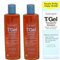 2 x 250ml Neutrogena T/Gel Therapeutic Shampoo Tgel T Gel