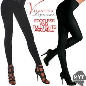 Womens Noir Doublure Polaire Douce Leggings Femmes Chaud Thermal Complet Collant