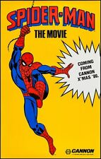 SPIDER-MAN One Sheet Movie Poster CANNON MARVEL ADVANCE X-MAS 1986 30x47 MINT
