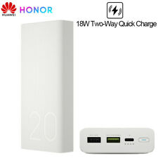Huawei Honor 20000mAh Power Bank USB Type C Quick Charger For P9 P10 P20 P30 Pro