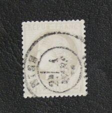 TIMBRES DE FRANCE : 1871/75 YVERT N° 52 Oblitéré - 4 CTS GRIS CERES - TBE