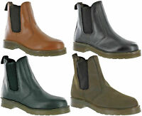 Grafters Gusset Dealer Boots Pull On Chelsea Leather Casual Mens Work Size 7-12