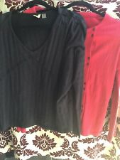 Roxy Ladies Blouses Small $20 Lot 2 Red-Black