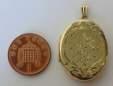 Vintage solid 9ct gold larger size LOCKET in excellent condition 7.4g 38mm h o/a