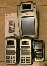 Huge Lot 4 First Data Fd-40 Fd-100ti Fd-300ti Fd40 Credit Card Terminals