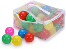 Play Ball Pit Balls for Kids - Plastic 2.7inches with 5 Color Balls for Toddlers