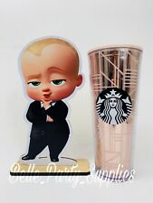 """10"""" Full Boss Baby Wood Stand Centerpiece Table Prop Party Birthday Decoration"""
