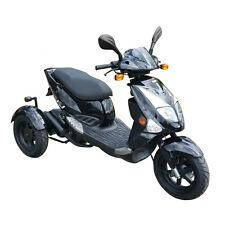 Dreiradroller PGO TR3 25 km/h schwarz Motorroller Scooter Mofa 2 Takt 50 ccm