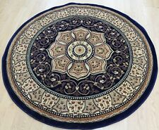 ROUND Traditional Persian DESIGN RUG COLOUR BLUE  Size 150x150cm NOW ON SALE